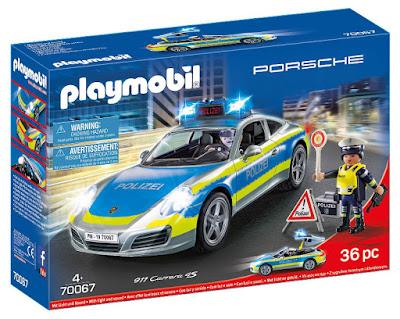 PLAYMOBIL 70067 - Coche Porsche 911 Carrera 4S de policía con luz y sonido  Producto Oficial 2019   Piezas: 36   Edad: +4 años  COMPRAR ESTE JUGUETE