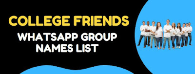 best whatsapp group names for college friends