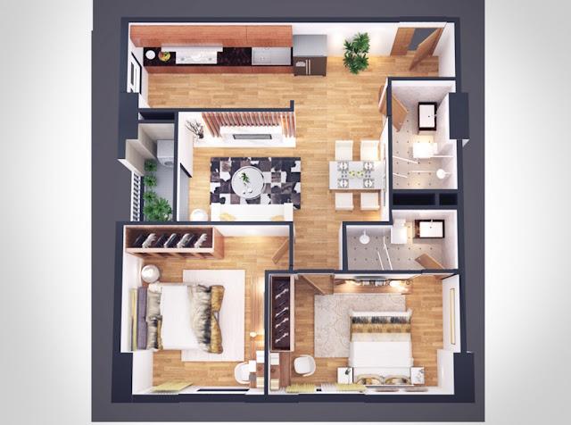 Thiết kế căn hộ 75m Athena Complex