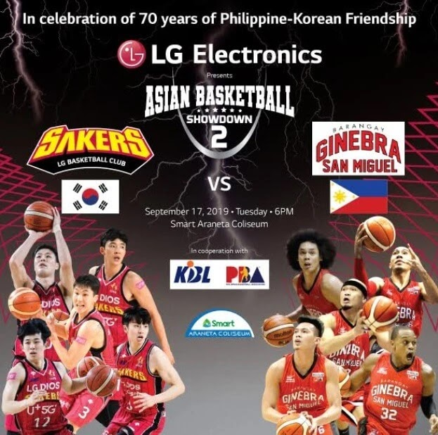 Korea's LG Sakers and Barangay Ginebra gear up for a battle of the ages