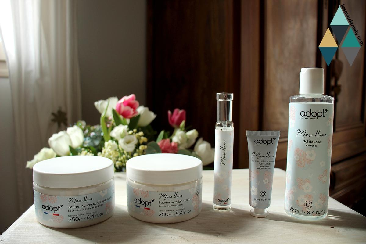 revue beauté gamme musc blanc adopt' parfums