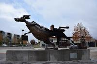 Canberra BIG Things |  Bunyip at the Gungahlin Library