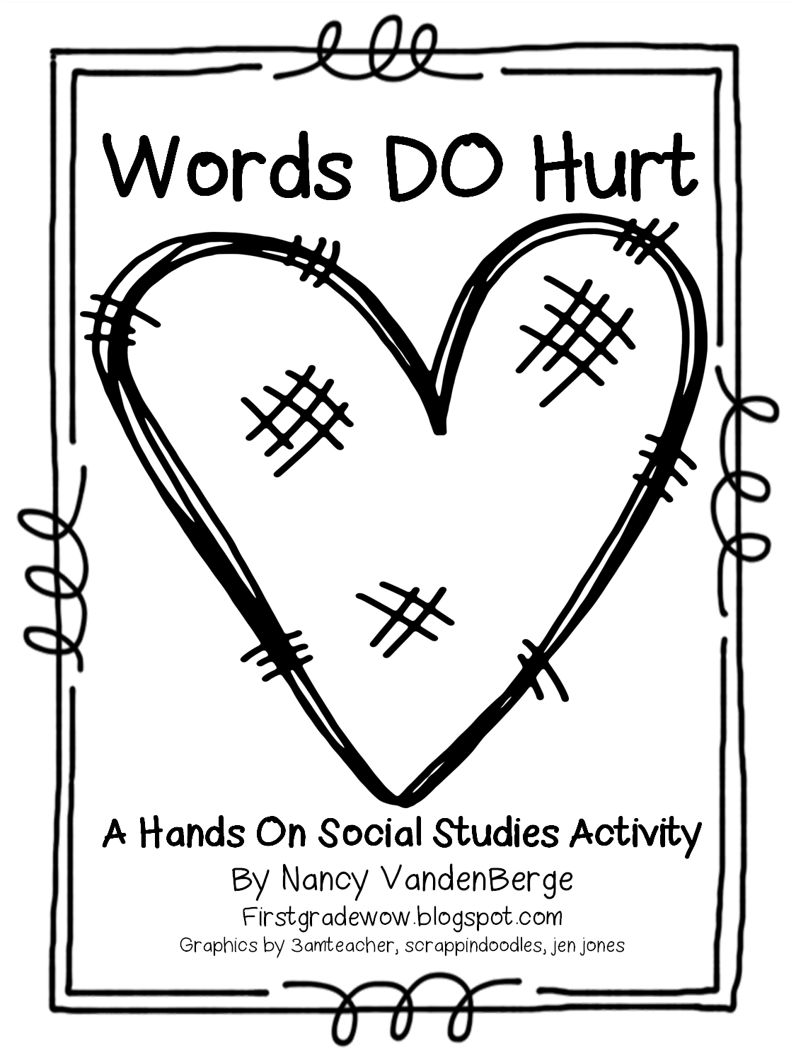 First Grade Wow: Words DO Hurt