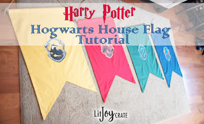 DIY Harry Potter House Flags