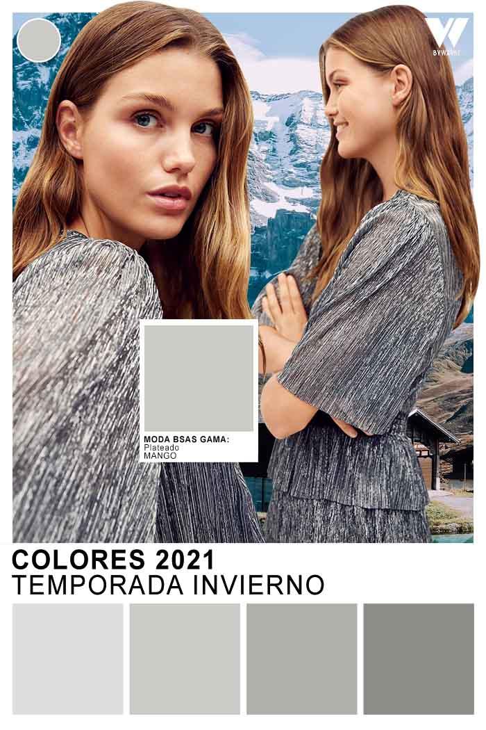 Plateado colores otoño invierno 2021 moda mujer