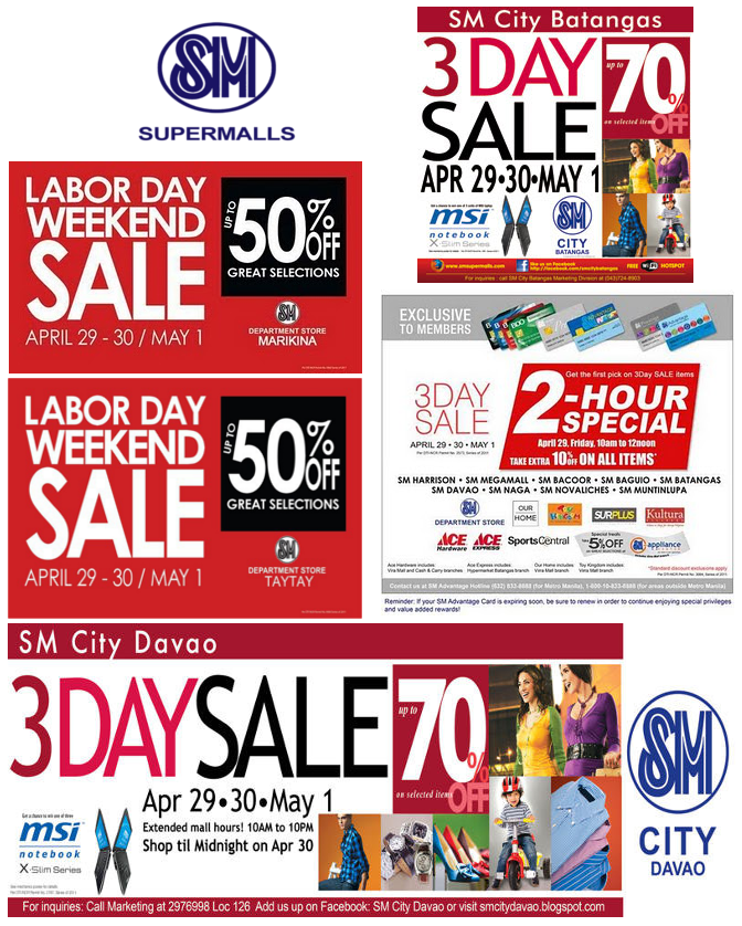 Labor Day Weekend Sale: Wear And Conquer: Event: SM Supermalls Labor Day Weekend Sales