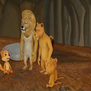 Hindi kids story  the lion and the fox  ( खोया हुआ गीदड़ )