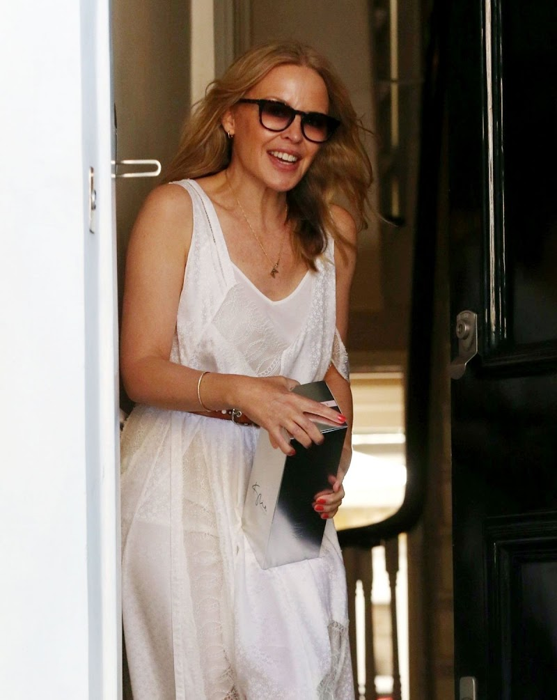 Kylie Minogue Clicks at Her Home in London 28 May -2020