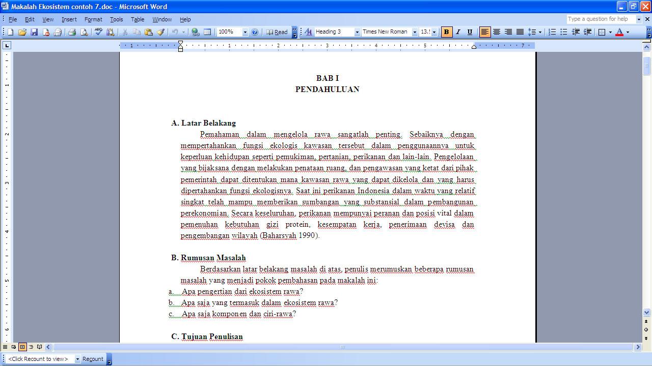 Biologi Kelas X Makalah Ekosistem Biologi Kelas