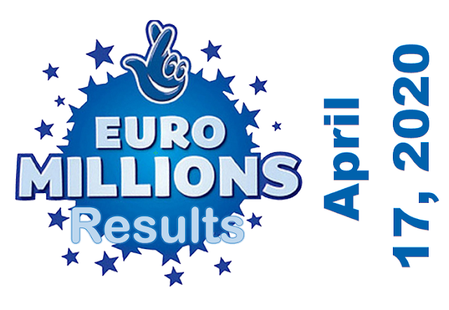 EuroMillions Results for Friday, April 17, 2020