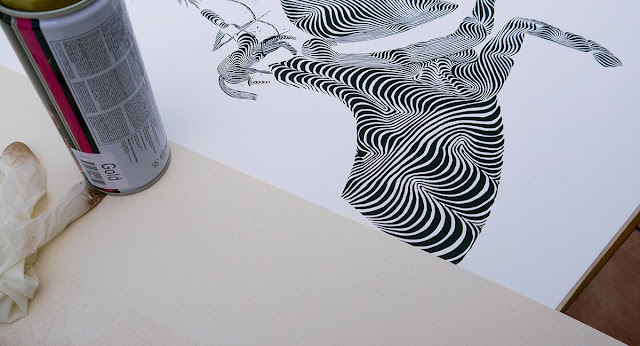 """Hayagriva"" Limited Edition Screen Print By Italian Street Artist 2501 for StreetArtnews. 4"