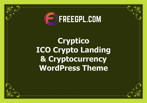 Cryptico – ICO Crypto Landing & Cryptocurrency WordPress Theme Free Download