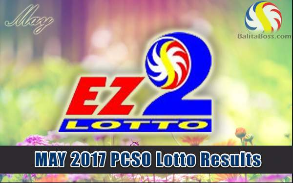 Results: May 2017 EZ2 2-Digit PCSO Lotto