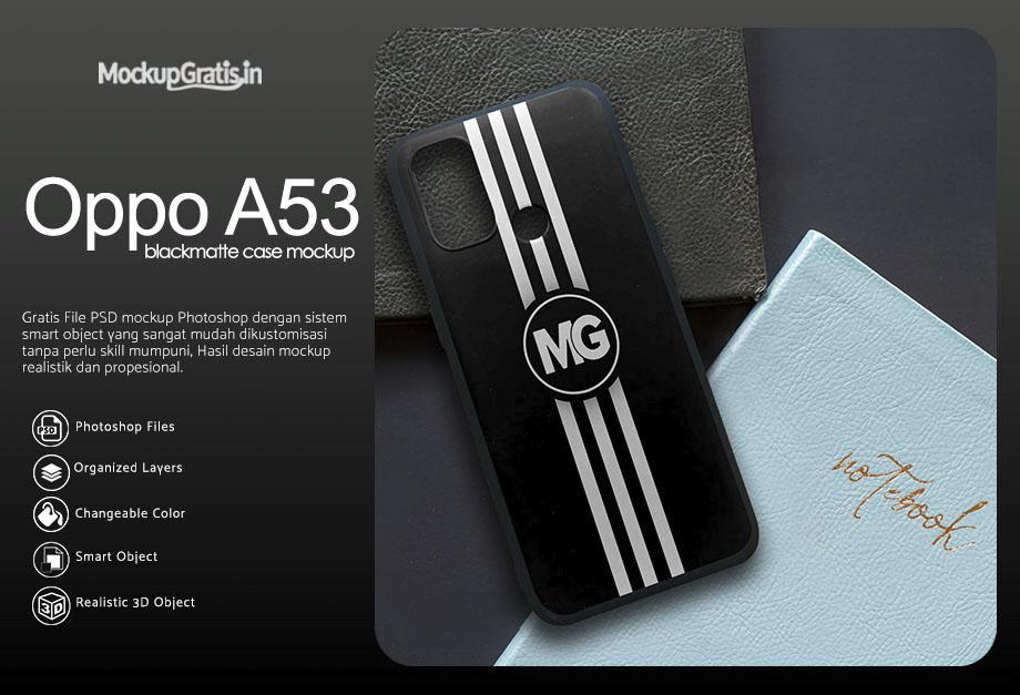 Mockup Blackmatte Case Oppo A53