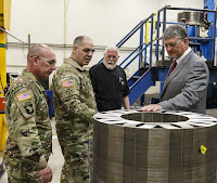 Gen. Gus Perna, commanding general of Army Material Command, inspects a production facility (Photo Credit: U.S. Army)