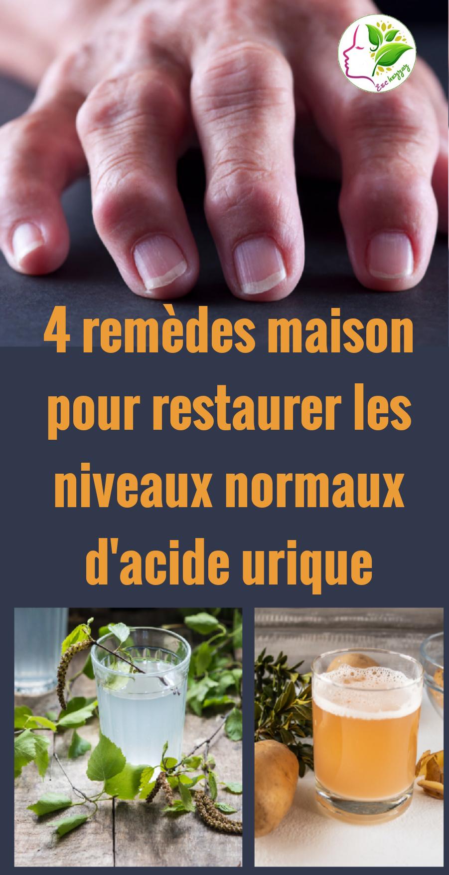 4 remèdes maison pour restaurer les niveaux normaux d'acide urique