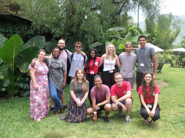 A group photo of the International Volunteers in Guatemala.