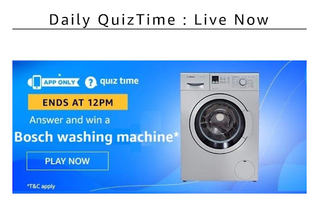 Amazon today's quiz answer 14th December
