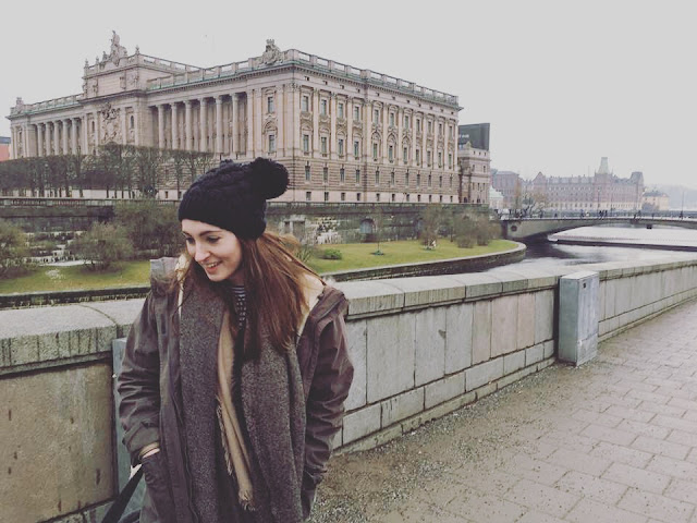 Tourist shot in Stockholm - Winter