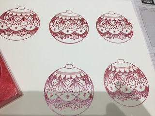 Stamping with Shimmer Paint
