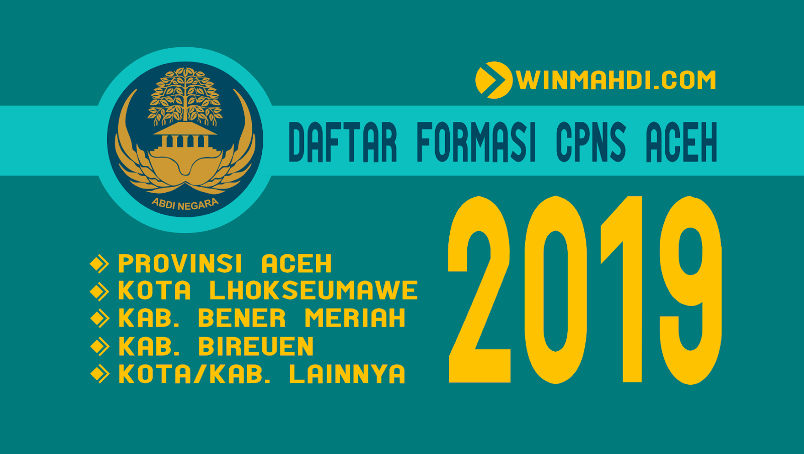 Formasi CPNS ACEH 2019