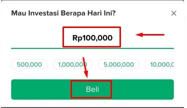 Nominal Pembelian Reksa Dana