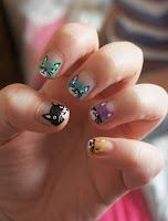 Decoración de uñas inspiradas en gatos