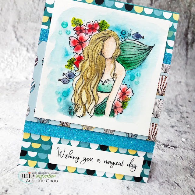 ScrappyScrappy: New Releases with Unity Stamp - Salina Girl #scrappyscrappy #unitystampco #quicktipvideo #youtube #card #cardmaking #stamping #papercrafting #handmadecard #paperfashion #liquidmetal #gouachepaint #watercolorpainting #nuvoglitterdrop #mermaidstamp #salinagirl #angiegirl #magicalday