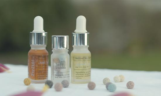 natural essential oils from ethical aromatherapy jewellery brand Perfino