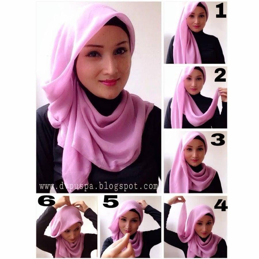 Tutorial Hijab Segi Empat Untuk Sehari Hari Tutorial Hijab Paling