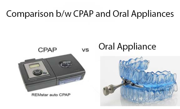 In CPAP several different types of devices are used. For e.g. APAP (Auto Adjusting Airway Pressure) and BiPAP (Bi-level Positive Airway Pressure) devices.  While in OAT (Oral Appliance Therapy) a MAD (Mandibular Advancement Device) or TSD (Tongue Stabilizing Device) is used, which is also occasionally known as TRD (Tongue Retaining Device).