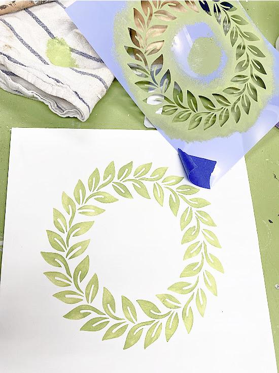 wreath and wreath stencil