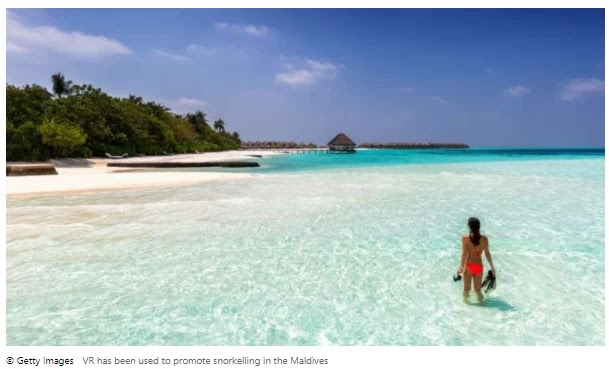 VR has been used to promote snorkelling in the Maldives