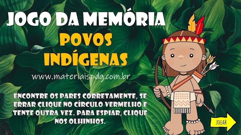 JOGO DA MEMÓRIA - FIGURAS DA CULTURA INDÍGENA