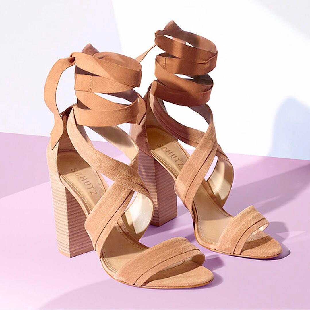 Suede wrap up sandals