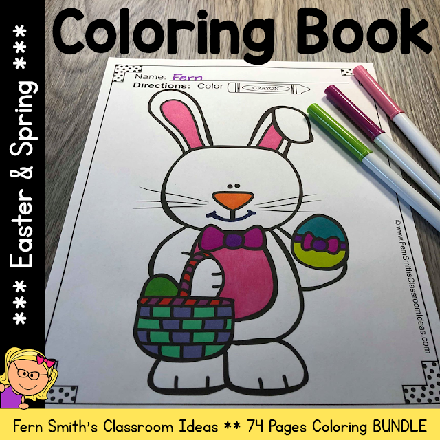 Easter and Spring Coloring Pages Bundle - 74 Pages of Spring and Easter Bundle #FernSmithsClassroomIdeas