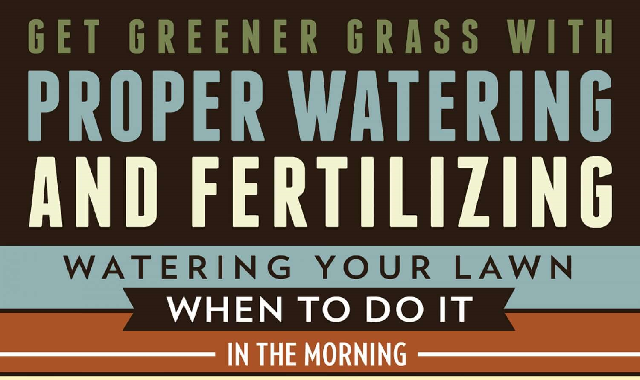 Get Greener Grass With Proper Watering and Fertilizing #infographic