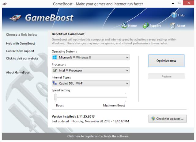 PGWare GameBoost 3.10.28.2019 + Crack - Tăng tốc máy tính khi chơi game
