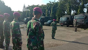 Marinir TNI AL: Berangkatkan 150 Prajurit Satgas Penanggulangan Bencana Banjir ke Karawang