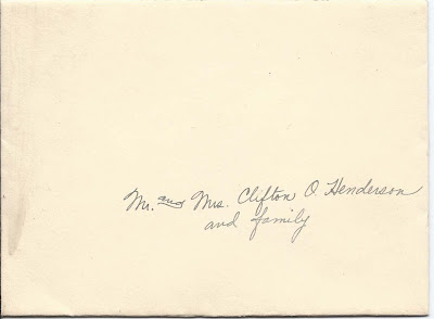 Invitation to 1931 Wedding of Dorothy Isabelle Tuck of Holden, Maine, and Carlton W. Johns at Las Vegas, Nevada