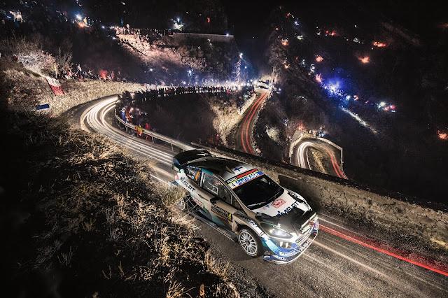 M-Sport Ford Fiesta World Rally Car in Monte Carlo