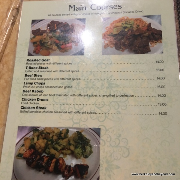 menu of Somali fare at Hamdi Grilll in Columbus, Ohio