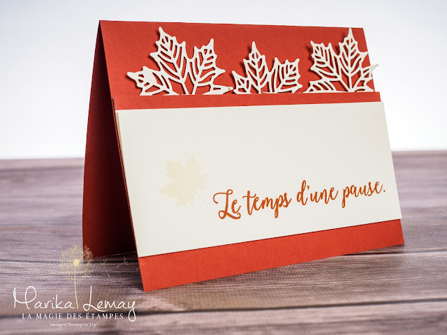 carte technique découpe partielle Big shot Stampin' Up!