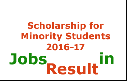 Scholarship for Minority Students 2016-17