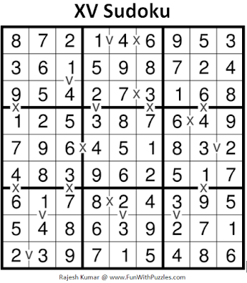 XV Sudoku Puzzles (Fun With Sudoku #231) Puzzle Answer