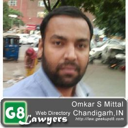 Advocate Omkar Singh Mittal, Punjab & Haryana High Court, Chandigarh, India [G8Lawyers]