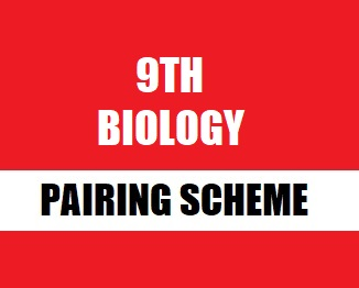 9th Class (Matriculation Part-1) Pairing Scheme (2019) of Biology - Taleem360