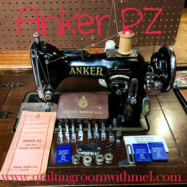 History and basic functions of German made Anker RZ vintage sewing machine