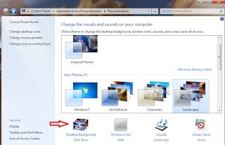 Cara Mengganti Gambar Background Desktop di Windows 7