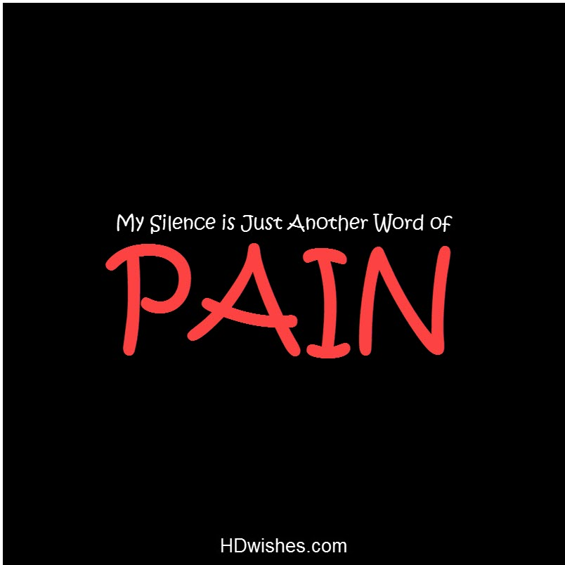 My Silence is Another Word of PAIN Black DP